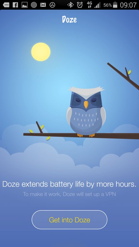App Doze_screen1