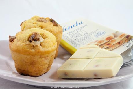 Muffin di quinoa e carote con chocolight Venchi / Quinoa and carrot muffin recipe with white chocolight by Venchi
