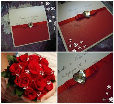 Partecipazioni Matrimonio Natale.Partecipazioni Matrimonio Rosso Cristallo E Tempo Di Natale
