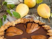 Crostata farro cioccolato cardamomo pere Spelt tart with pears cardamom chocolate