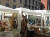 Fiera degli artisti Navigli. fair artists Navigli, Milan.