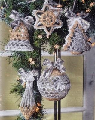 Speciale Natale Addobbi Per Lalbero Di Natale A Uncinetto Paperblog
