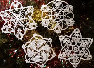 Decorazioni A Uncinetto Per Natale Fiocchi Di Neve Per Decorare L