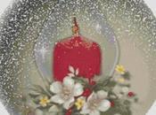 Schema punto croce: Pallina Natale_6 candela
