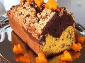 Plumcake bi-gusto alla zucca cioccolato copertura croccante