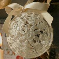 Decorazioni A Uncinetto Per Natale Pallina Di Natale Rivestita All
