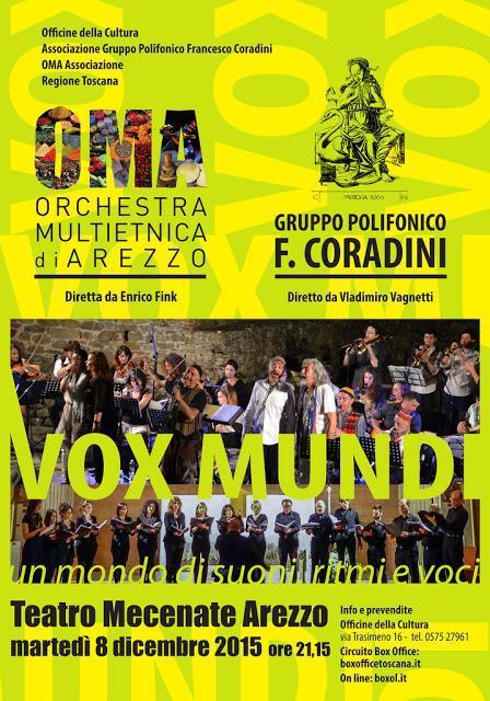 Vox Mundi: l'Orchestra Multietnica di Arezzo incontra il Gruppo Polifonico Francesco Coradini