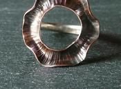 Anello rame argento
