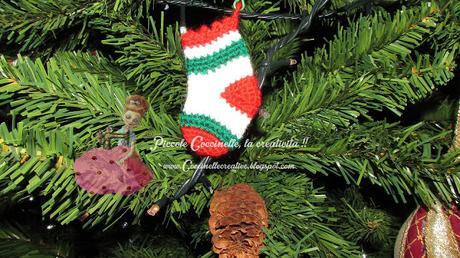 Albero Di Natale Alluncinetto Semplicissimo.Calzino Di Natale Uncinetto Schema Paperblog
