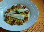 Platessa allo spumante crema finocchi curry