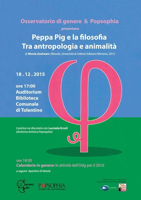La filosofia di Peppa Pig: presentazione del libro a Tolentino, insieme a Popsophia