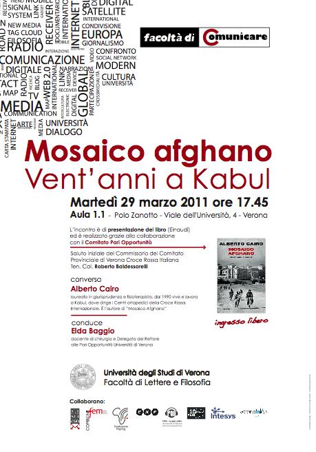 """Presentazione del libro """"Mosaico afghano"""""""