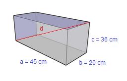 Problema svolto sul calcolo della diagonale di un parallelepipedo rettangolo