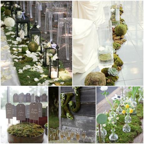Wedding moss: muschio per le decorazioni