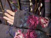 Guanti lana ferri fiori!