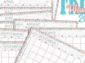 Free Printable Panning mensile 2016