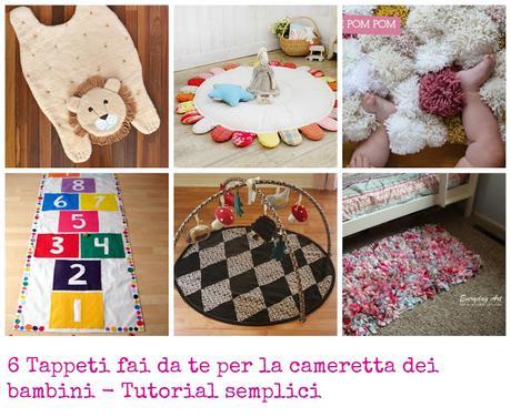 6 tappeti fai da te per la cameretta dei bambini for Arredare la cameretta dei bambini