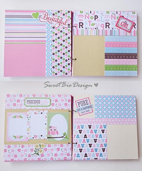 Album foto Bimba con Copertina in Stoffa - Fabric Cover Baby girl photoalbum