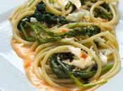 """Bucatini senape selvatica stracci Bufala """"pane pomodoro"""" briciole piccanti """"Pasta Mozzarella veggie style"""" #LSDM"""