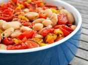 Fagioli Wrzawa caldi Olio Pomodoro, Pomodorini Peperoni Confit