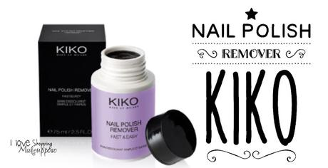 [Review] Nail polish remover fast & easy - KIKO