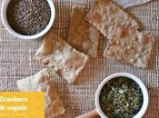 Crackers segale semi carvi trigonella lievitazione naturale Sourdough crackers with caraway seeds dried fenugreek