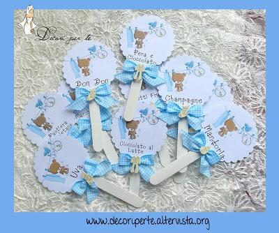 Palettine gusti confetti battesimo bimbo paperblog - Decorazioni battesimo bimbo ...