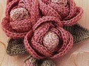 Bouquet roselline boccioli all'uncinetto, schema Crochet rosettes, free charts