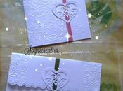 Partecipazioni matrimonio cuori intarsiati collezione Lovely
