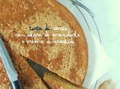 Torta carote okara mandorle crema arachidi
