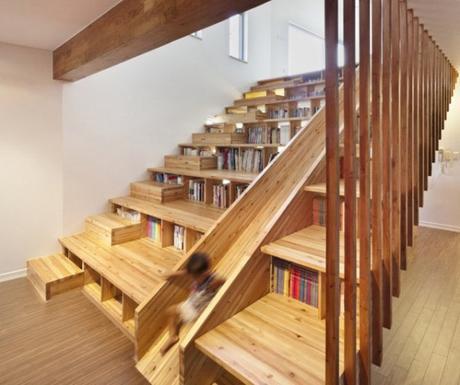 8 scale con libreria paperblog - Progetto scale interne ...