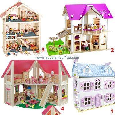Le pi belle case delle bambole in legno paperblog for Piani di casa cottage gotico