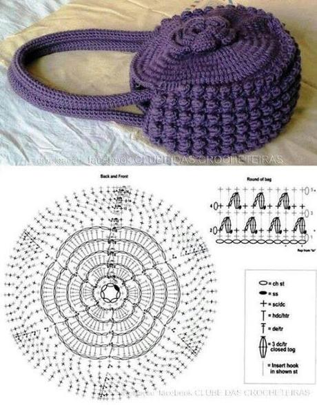 Populaire Borse e pochette fai da te 8 schemi crochet gratis - Paperblog HI13