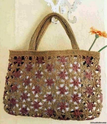 Borse e pochette fai da te 8 schemi crochet gratis paperblog for Borse a uncinetto con fettuccia schemi