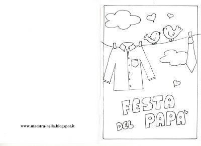 Biglietti Da Colorare Per La Festa Del Papà Paperblog