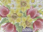 gentile richiesta...schemi vasi punto croce Lucia Cross stitch vases baskets flowers, charts