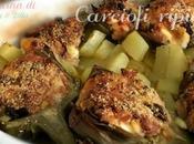 Carciofi ripieni patate forno