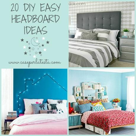 20 idee di testiere del letto fai da te 20 diy easy headboards ideas paperblog - Testiera letto fai da te cuscini ...