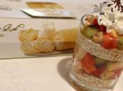 Bicchieri golosi macedonia frutta, Roll Swiss White panna