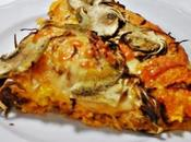Pizza zucca scamorza affumicata carciofi