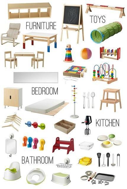 Casa montessori idee per preparare l ambiente paperblog for Montessori da ikea