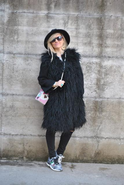 Elisabetta Ecologica Coat Faux Pelliccia Black Cappotto Fur awAYvwx6