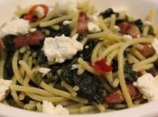Spaghetti senza glutine pancetta, spinaci quartirolo
