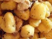 Gnocchi sauté funghi salsa boscaiola