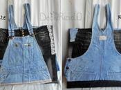 Cartella porta-disegni, salopette jeans