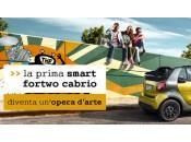 Viveredarte: smart fortwo cabrio diventa un'opera d'arte
