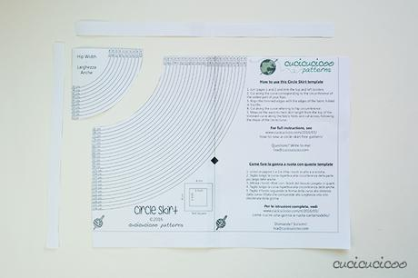 quality design 7aed1 1cb62 Come cucire una gonna a ruota – con modello! - Paperblog