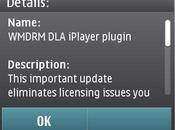 Aggiornamento WMDRM iPlayer plugin tramite Software Update
