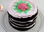 Tutorial Naked Cake ovvero torta nuda rose pasta zucchero