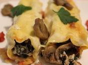 Cannelloni coste, funghi prosciutto
